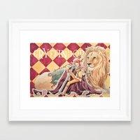 gryffindor Framed Art Prints featuring Gryffindor by Ili Sn