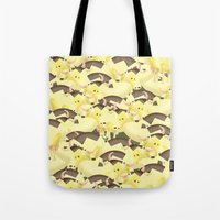 cows Tote Bags featuring Cows by Ana Elisa Granziera
