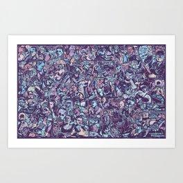 O formonsum spectaculum blue edition Art Print