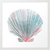 shell Art Prints featuring Shell by Adara Sánchez Anguiano