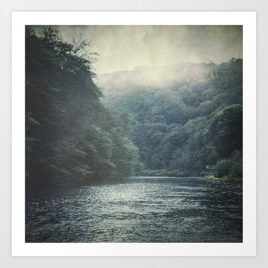 valley and river Art Print