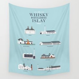 Whisky Distilleries of Islay Wall Tapestry