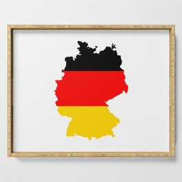 germany flag map Serving Tray