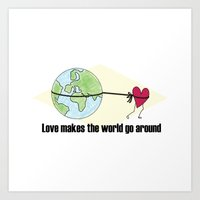 the power of the world Art Print