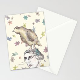 Spring Bird and Wildflowers Stationery Cards