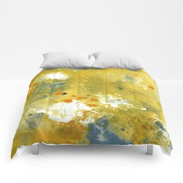 Abstract Acrylic Painting YELLOW Comforters