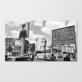 Checkpoint Charlie Berlin Canvas Print