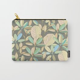 Leaf pattern | brown, pale yellow and green Carry-All Pouch