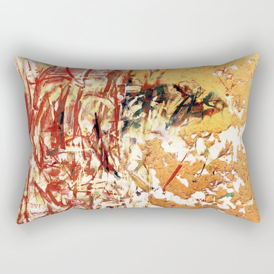 Red and Yellow Wall Rectangular Pillow