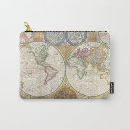 A General Map of the World - Laurie 1794 Carry-All Pouch