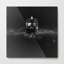 TARDIS DOCTOR WHO SPACE Metal Print