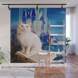 The tale of Tyche the white kitty Wall Mural