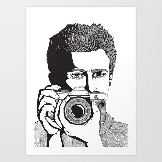 James Dean Art Print