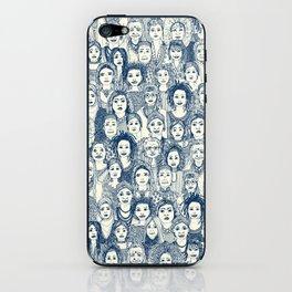 WOMEN OF THE WORLD BLUE iPhone Skin
