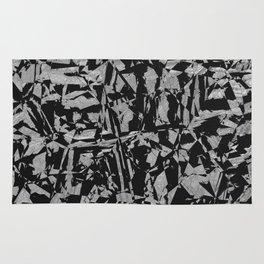 Black - Silver - Crazy Rug