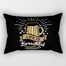 Life is Brewtiful   Beer Brewer Oktoberfest Rectangular Pillow