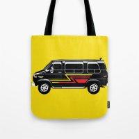 van Tote Bags featuring Classic Van by Eyes Wide Awake