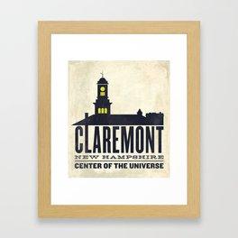 Claremont, New Hampshire Framed Art Print