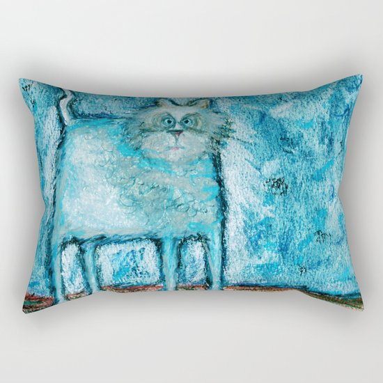 A bit tensed Rectangular Pillow