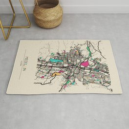 Colorful City Maps: Medellin, Colombia Rug