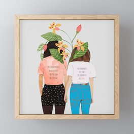 Motto #illustration #concept #painting Framed Mini Art Print