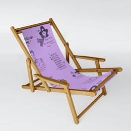Gilmore Girls Quotes in Purple Sling Chair