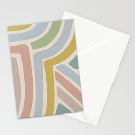 Abstract Stripes V Stationery Cards