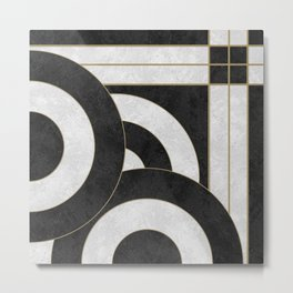 Geometric Marble 01 (abstract) Metal Print