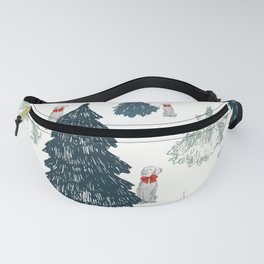 WEIMARANER AND TREES Fanny Pack