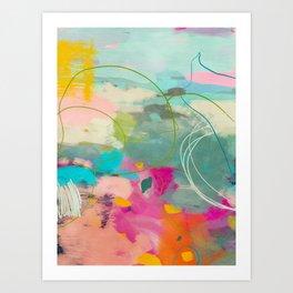 mixed abstract brush color study art 1 Art Print