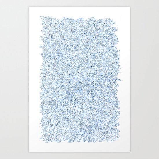 Water doodle Art Print