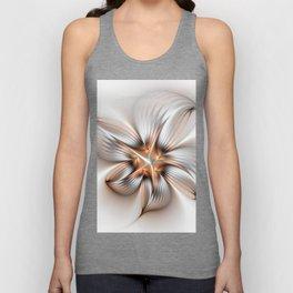 Elegance of a Flower, modern Fractal Art Unisex Tank Top