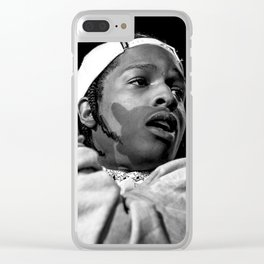 ASAP ROCKY BLACK AND WHITE Clear iPhone Case