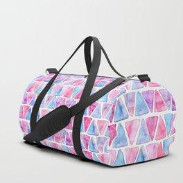 Bubble Gum Watercolor Triangles Duffle Bag