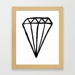 Big Rock Diamond Framed Art Print