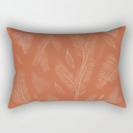 abstract pines red Rectangular Pillow