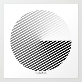 Stripes Can be in a Disc Art Print