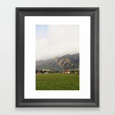 Rainbow in the Valley Framed Art Print