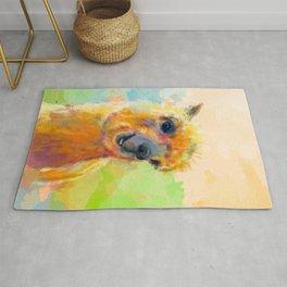 Colorful Happiness - Alpaca digital painting Rug