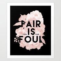 Fair is Foul Art Print