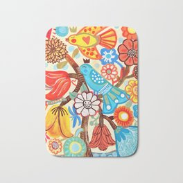 Pop Flowers Bath Mat