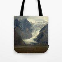 iceland Tote Bags featuring Iceland Glacier  by Factory23
