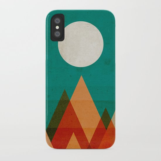 Full moon over Sahara desert iPhone Case