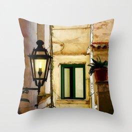 Amalfi Backstreet Throw Pillow