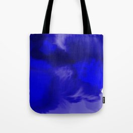 Blue Watercolor Abstract Tote Bag