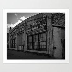 Old Repair shop Art Print