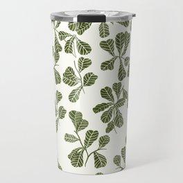 Fig Leaf Pattern Travel Mug