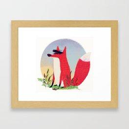The Fox. Framed Art Print