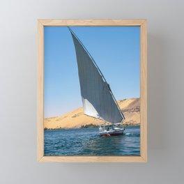 Felucca sailing along the Nile River - Egypt Framed Mini Art Print