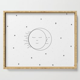 The Moon and Sun are One Serving Tray